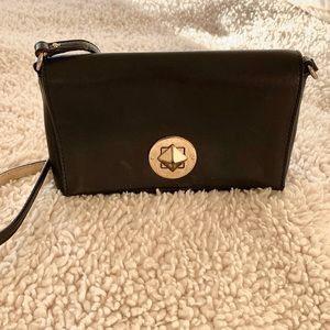Kate Spade Small Black Crossbody Leather Purse